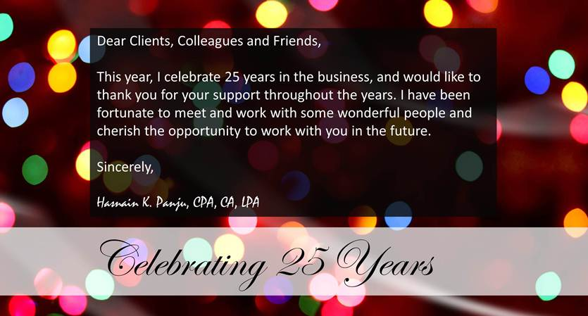 Celebrating 25 years in the business